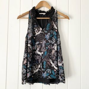 Anthropologie Floreat Woodland Animal Top Small